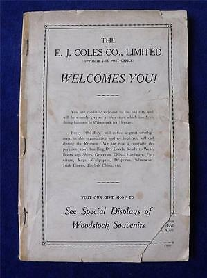 Woodstock Old Boys & Girls Homecoming Reunion Information Booklet 1927 Canada