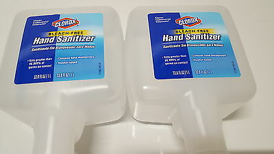 2 New Clorox 30243 Touch Free Hand Sanitizer 1000 ML Refills