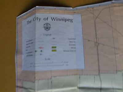 Map City Of Winnipeg Manitoba Canada Points Of Interest Route System 1984