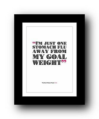 The Devil Wears Prada ❤ Typography movie quote poster limited edition print #85