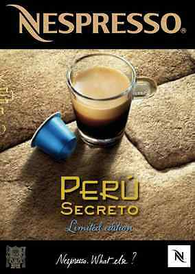 The Mysterous Peru Secreto Rare Limited Edition Nespresso Coffee *30 Capsules*