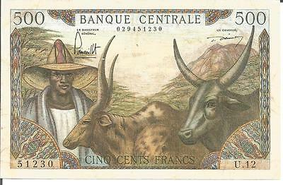 Cameroun Republic 500 Francs 1962   Pick 11    Vf   Ttb