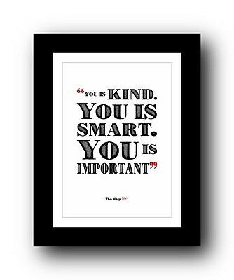 The Help ❤ Typography movie quote poster art limited edition print #90
