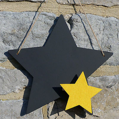Chalk Blackboard Five Pointed Star Shape for Memos Notes & Home Decor