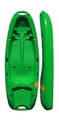 Junior Sit On Top Kayak Canoe - Ideal for Children / Kids / Holidays - Green