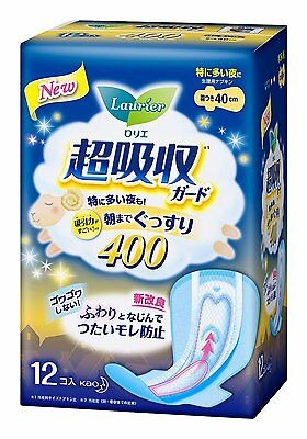 KAO Japan Sanitary items Laurier Superabsorbent 40cm 15.7inch type 12 pcs.
