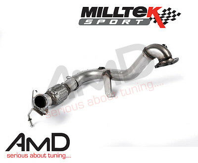 Milltek Fiesta Ecoboost 1.0 Turbo Decat Pipe Largebore donwpipe De Cat Exhaust