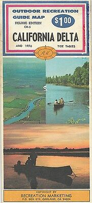 1976 PAYLESS DRUG STORES Road Map CALIFORNIA DELTA Tide Tables San Francisco