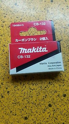 Makita Cb-132 194984-3 Set Of 2 Pz Carbon Brush Kp0810 Planer Original