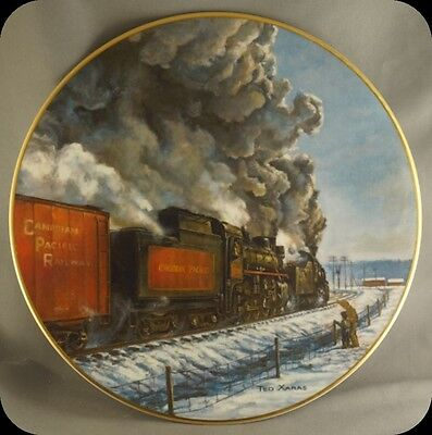 Theodore Xaras Symphony in Steam CPR Canadian Pacific Railway  Collector Plate