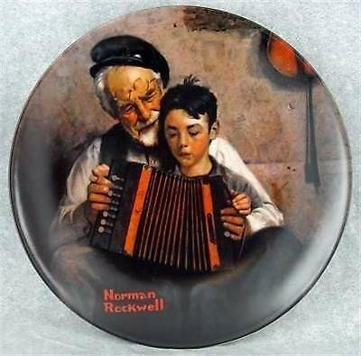Norman Rockwell The Music Maker Collector Plate