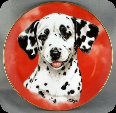 Linda Picken Dalmation Dog Fire Department collector Plate