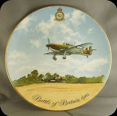 John Young Battle of Britain Flt Lt JB Nickolson Hurricane MK1 Collector Plate