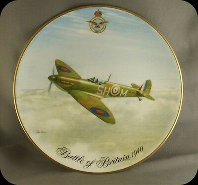 John Young Battle of Britain 1940 Spitfire Mk 1 of No 64 Collector Plate 2500