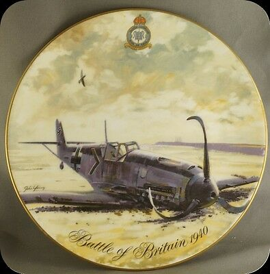 John Young Battle of Britain 1940 Messerschmitt Bf 109e Collector Plate 2500