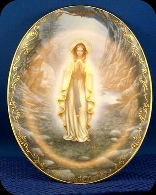 Hector Garrido Our Lady Of Lourdes Collector Plate