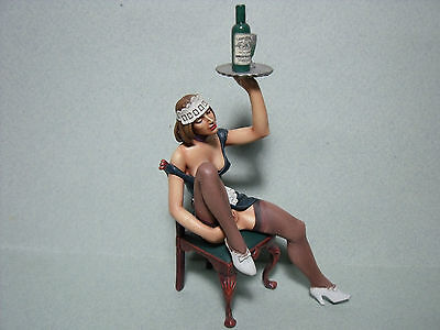 Figurine  Sexy  Girl  Jeanne  Vroom   1/18   A  Peindre  Erotique  Folies