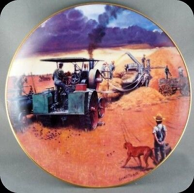Emmett Kaye Beating The Storm - Farming the Heartland Collector Plate