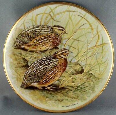 Basil Ede Common Quail Gamebirds of the World Collector Plate Limoges