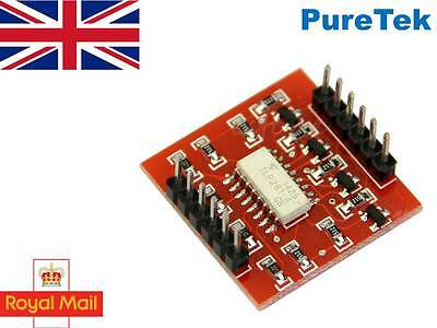 TLP281, 4 channel opto-isolator breakout for Arduino, optoisolator, optocoupler