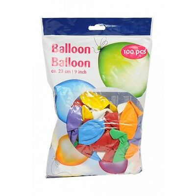 Lot de 100 Ballons MULTICOLORE Baudruche 23cm Decoration Anniversaire