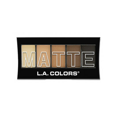 L.A. Colors Makeup Silky Smooth Matte Eyeshadow Palette CEM472 Brown Tweed
