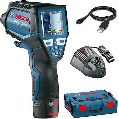 BOSCH Thermo detector GIS 1000 C in L-BOXX 136 with 1,5 Ah battery and charger