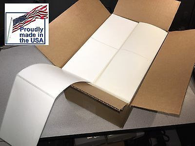 """4"""" x 6"""" Thermal Shipping Fanfold 2000 Labels Zebra Printer Made In The USA"""