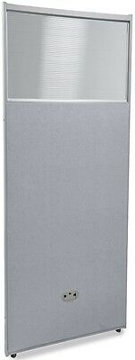 63'' H x 25'' W Poly Panel w/Translucent Tops & Gray Vinyl - Partition Panels