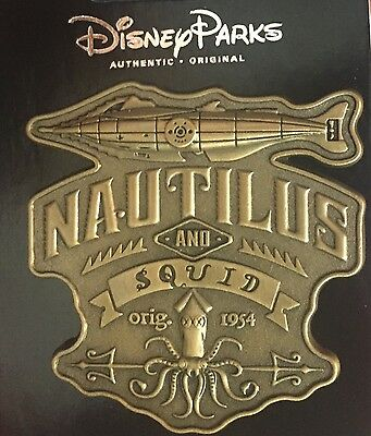 Disney Parks Trading Pin Nautilus & Squid Pin NEW 2016 20,000 Leagues Under Sea