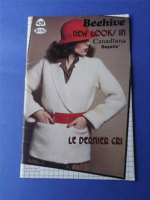 Beehive New Looks In Canadiana Pattern Book No. 439 Knit Crochet Jackets Hats