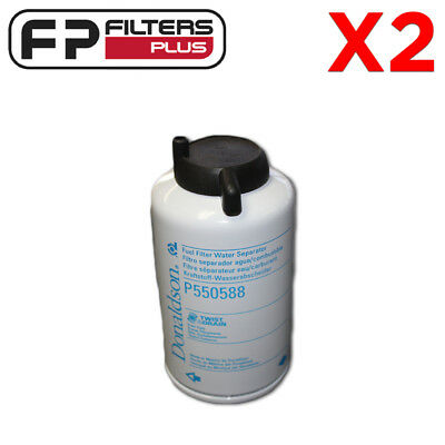 P550588 x 2 Fuel Filters for Donaldson P902976 Fuel / Water Separator Kit