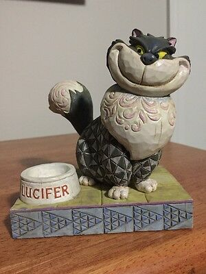"Jim Shore Disney Lucifer Cinderella ""Devious Lucifer"" Cat Rare With Box"