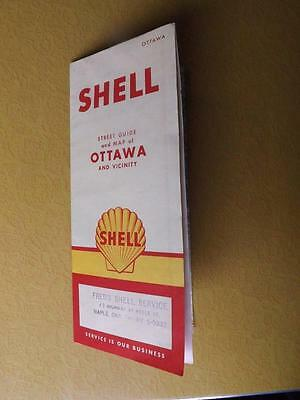 Map 1958 Ottawa Street Guide & Vicinity Freds Shell Service Station Maple Ont