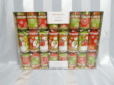 Pier  1 imports Snowman Christmas Party Crackers Set of 8 New in Box