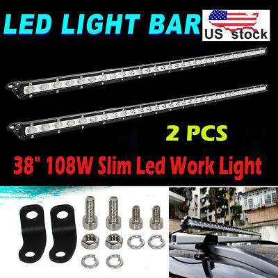 23 Inch 144W Cree Led Light Bar Flood Spot Work Beam 4WD Jeep Suv Driving Lamp