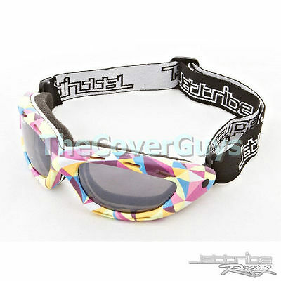 Jettribe Swirl Frame Smoke Lens Riding  Goggles Ideal for PWC, Surfing, Kayak