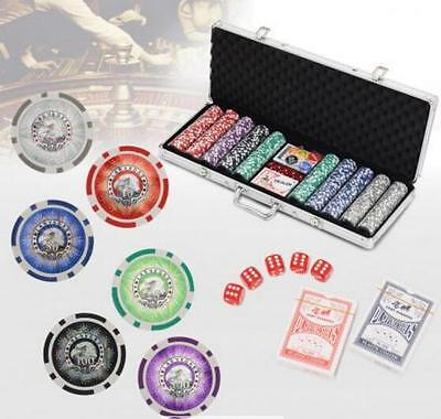 500 Holographic Chip Professional Quality Poker Game Set