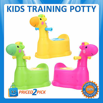 Kids Childrens Baby Toddlers Dinosaur Toilet Training Potty Seat Trainer Chair
