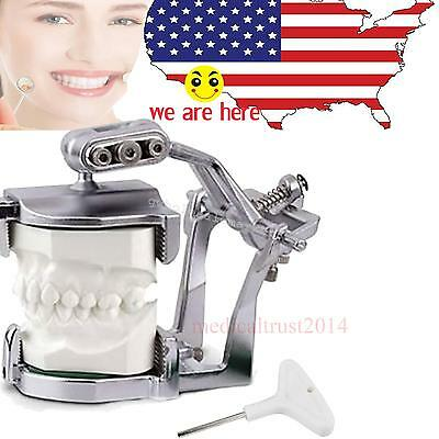US Adjustable Magnetic Articulator Dental Lab C-clamps hold full teeth model
