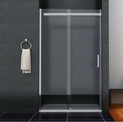 New Sliding Shower Enclosure Walk In Glass Door Screen 1950mm 8mm Easyclean