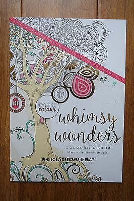 Kaisercraft Kaisercolour WHIMSY WONDERS 14.8x 21cm CL501 coloring book NEW