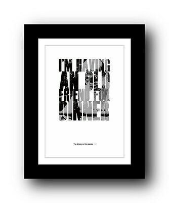 The Silence of the Lambs Typography movie quote poster limited edition print #96