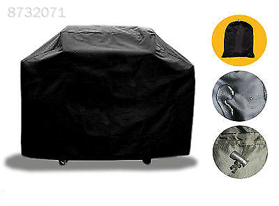 Large BBQ Grill Cover Heavy Duty Patio Waterproof Gas Barbecue Protector Black