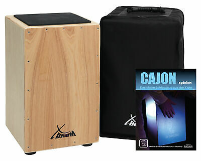 Cajon Percussion Hand Drum Accompanying Instrument Tunable Snare Strings Gigbag