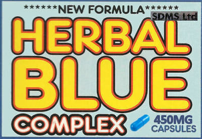 HERBAL BLUE COMPLEX For Men Capsulesx10  ***NEW 450MG FORMULA*** FREE DELIVERY