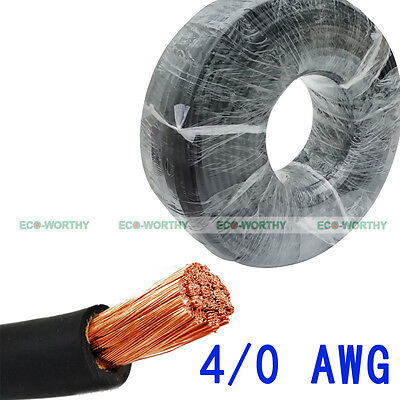 3 Meter WELDING CABLE WIRE 4/0 AWG BLACK 10' NEW Gauge Copper Solar Cable Wire