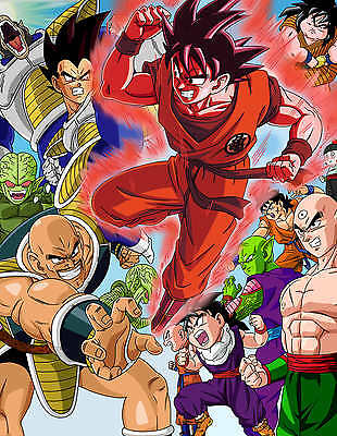 POSTER A4 PLASTIFIE *.MANGA DRAGON BALL Z.ALL PERSOS//GOKU /& CO. 1 FREE//1 GRATUIT