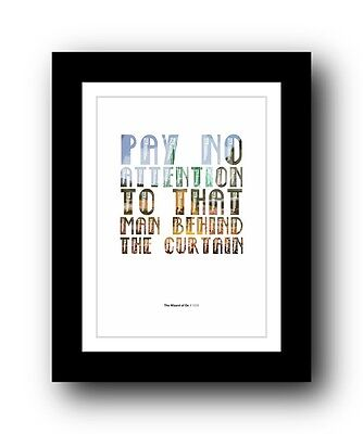 The Wizard of Oz ❤ Typography movie quote poster art limited edition print #104