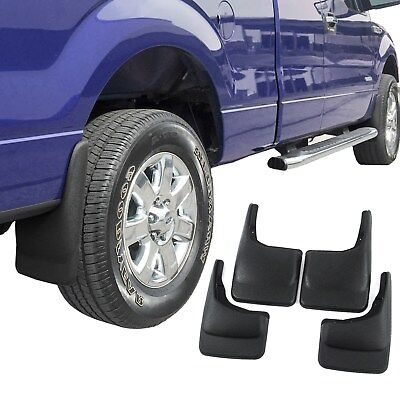 Ford F150 Mud Flaps 2004-2014 Mud Guards Splash Molded 4 Piece Front and Rear